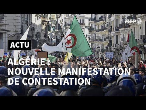 Des étudiants algériens manifestent à Alger pour marquer le premier anniversaire du mouvement   AFP Des étudiants algériens manifestent à Alger pour marquer le premier anniversaire du mouvement   AFP