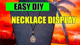 How To Make A Quick Cheap DIY Necklace Display Stand
