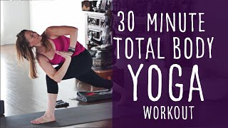 30 Minute Total Body Yoga Workout (intermediate) with Fightmaster Yoga by Fightmaster Yoga