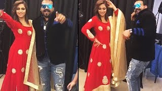 Arshi Khan DANCES With Jallad During Photo Shoot - Funny