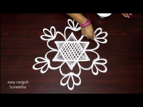 basic kolam designs for beginners by easy rangoli