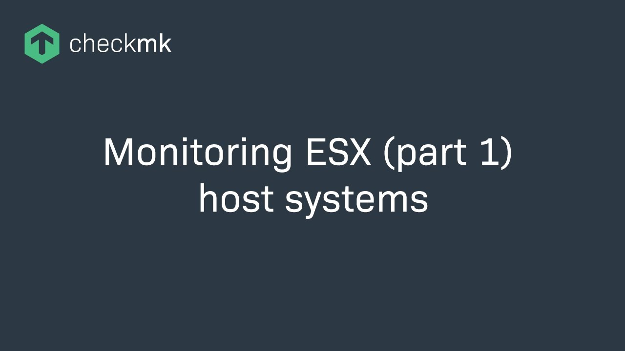 Monitoring of ESX host systems with Check_MK