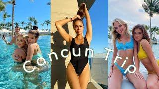 Cancun 2021 Vlog 🌊Mexico Covid Travel with my best friend! 🏖️ | grwm Pierson Fode  Brighton Sharbino