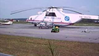 preview picture of video 'Der grösste Hubschrauber der Welt in Eggenfelden ! MI 26'