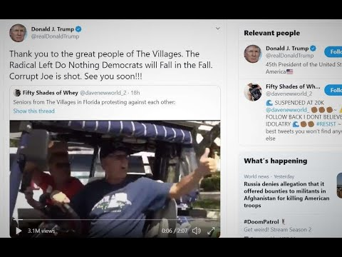 """Trump Retweets Video With Supporter Saying """"White Power"""""""