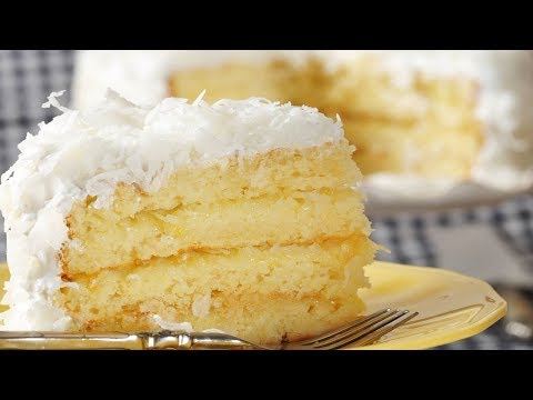 Video Coconut Cake Recipe Demonstration - Joyofbaking.com