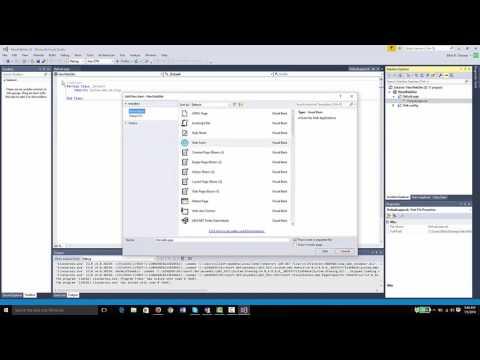 How to Create a basic ASP.NET website using Visual Basic