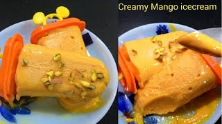 Easy Mango kulfi  ice cream without CREAM,SUGAR,Condensed MILK and Readymade mix \Kulfi