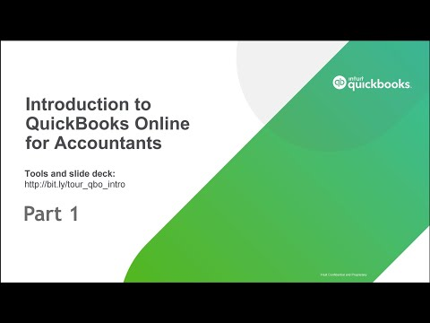 Introduction to QuickBooks Online for Accountants –Part 1