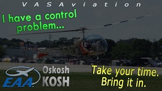 [REAL ATC] Helicopter w/ CONTROL PROBLEMS at Oshkosh AirVenture