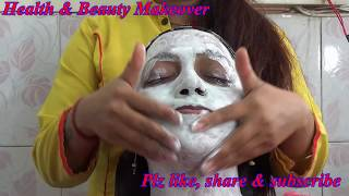 How to do face clean up at home - DIY - step by step tutorial to get clean skin