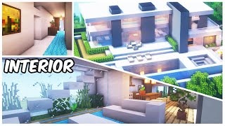 Minecraft: Modern Mansion Interior Tutorial | How To Build A House In Minecraft (#1)