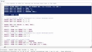 SAP HANA Academy - HANA SQL: Boolean Data Type