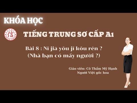 Khóa Học Tiếng Trung Sơ Cấp A1 - Bài 8: 你家有几口人 (Nhà bạn có mấy người)