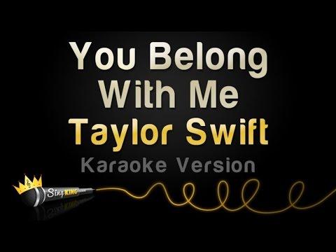 Taylor Swift – You Belong With Me (Karaoke Version)