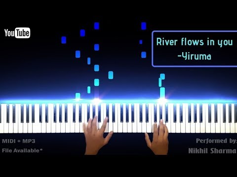 RIVER FLOWS IN YOU || YIRUMA || SOFT PIANO COVER || ( MP3 + MIDI FILE AVAILABLE )