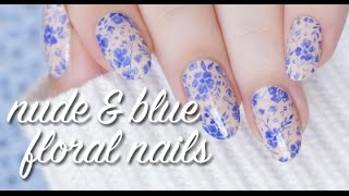 HANDPAINTED LACE FLORAL NAIL ART