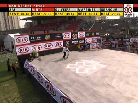 X Games Asia 2011 - Tomas Vintr Skateboard Street Silver Medal