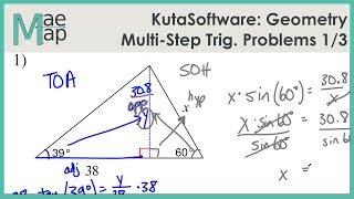 KutaSoftware: Geometry- Multi-StepTrig Problems Part 1