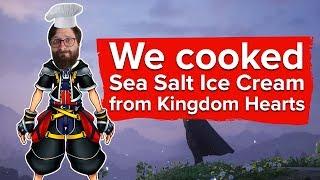 We made Sea Salt Ice Cream from Kingdom Hearts