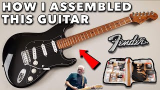 Building A Custom David Gilmour Inspired Fender Stratocaster - Roasted Maple Neck & Obsidianwire Kit