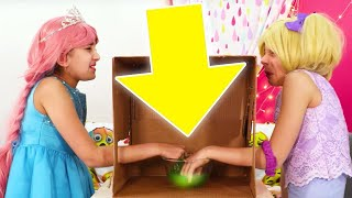 Guess The Animal 🐰 What's In The Box? Challenge (Part 2) - Princesses In Real Life | Kiddyzuzaa