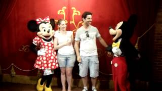 Isa Dudu Disney - Meeting Mickey and Minnie Mouse - Magic Kingdom 2012