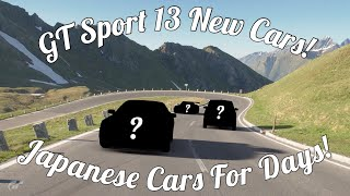 GT Sport New Update Announced! 13 New Cars Coming!