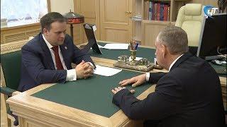 Андрей Никитин провел рабочую встречу с сенатором от Новгородской области Сергеем Митиным