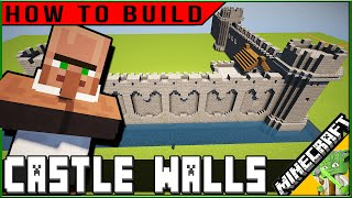 Minecraft Easy Castle Walls How To Build Plus Rude Villager