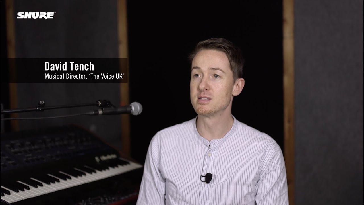 David Tench (MD, The Voice UK) & Shure KSE1500 Electrostatic Earphone System