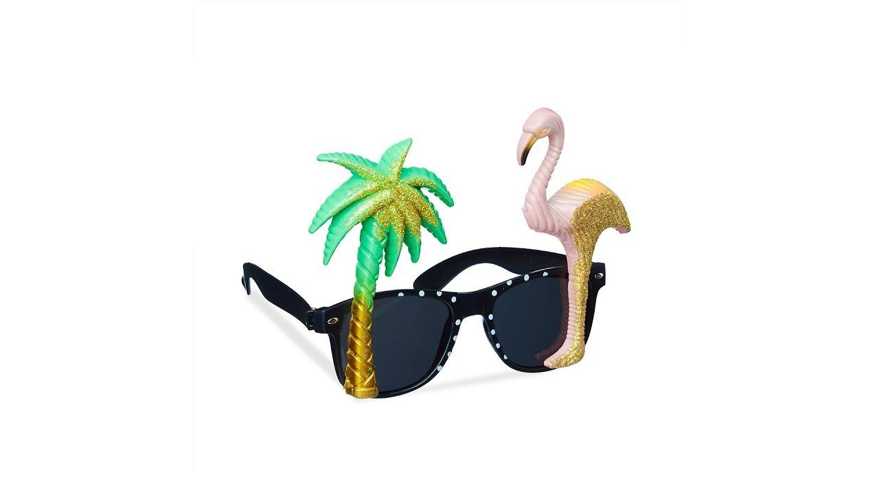 Video von: Partybrille Flamingo & Palme