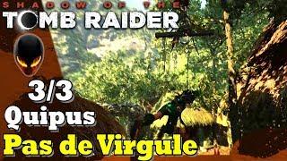 SHADOW OF THE TOMB RAIDER : Tous 3 QUIPUS / Défi Pas de Virgule
