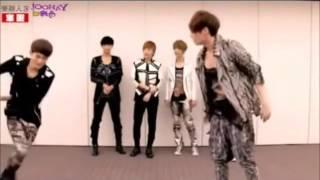 Playful Lay troll Dancing Machine Chen MAMA EXO-M (mirrored)