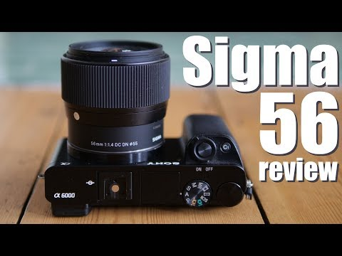 Sigma 56mm f1.4 review BEST portrait lens SONY e M43
