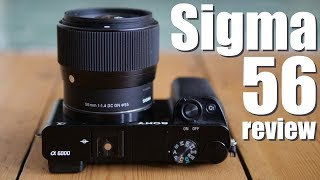 Sigma 56mm f1.4 review BEST portrait lens SONY e M43