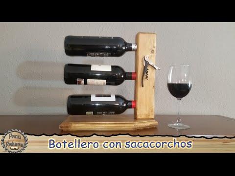 Botellero de madera para vinos