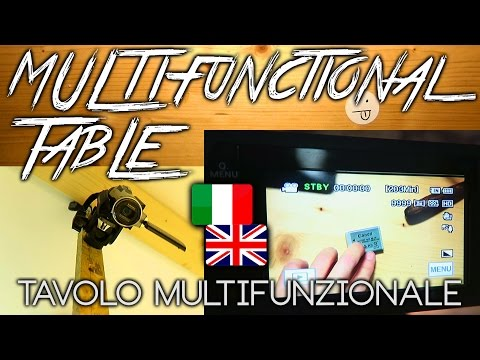 MULTIFUNCTIONAL TABLE inspired by Casey Neistat - TAVOLO MULTIFUNZIONALE
