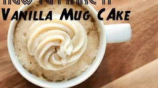 how to make a vanilla mug cake without eggs