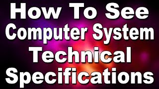 How To Know Computer Hardware Technical Specifications? (Hindi) | Kshitij Kumar