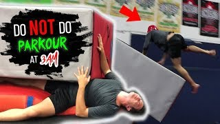 DO NOT DO PARKOUR AT 3 AM!! *CAN'T BELIEVE THIS HAPPENED!*
