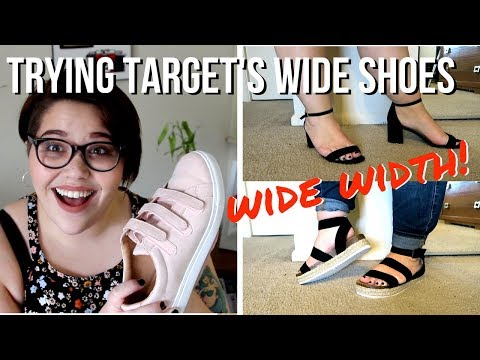 Target's WIDE WIDTH Shoes Haul & Review