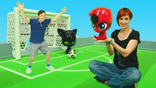 Видео для детей. Квами Леди Баг и Супер-кота + ФУТБОЛисты в КАФЕ на ДЕРЕВЕ №11 🌳 Маша Капуки и Федор