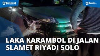 Laka Karambol di Jalan Slamet Riyadi Solo, Libatkan 2 Motor dan 1 Mobil, Satu Pengendara Luka