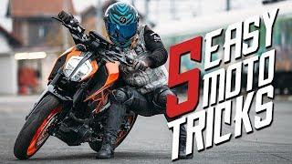 5 EASY MOTORCYCLE TRICKS | RokON vlog #75