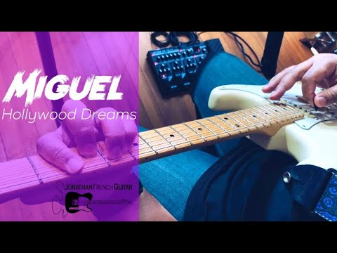 """Hollywood Dreams"" by Miguel is a really fun song to play on guitar, sign up for lessons with me today!"
