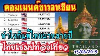 ตามไทยไม่ทัน!!คอมเมนต์ชาวอาเซียน กับ10อันดับประเทศอาเซียน ที่นักท่องเที่ยวต่างชาตินิยมเที่ยวมากที่สุ