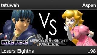 MNM 198 - tatuwah (Marth) vs Aspen (Peach) Losers Eighths - Melee