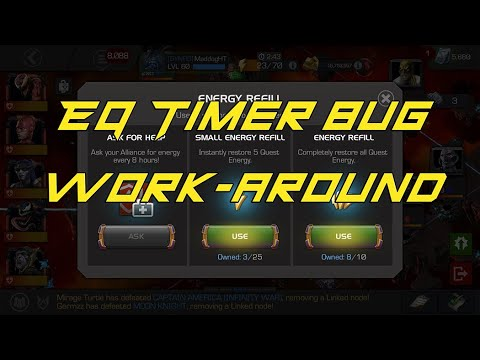 Event Quest Energy Timer bug work-around — Marvel Contest of Champions