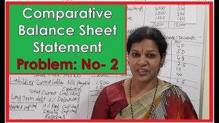 """Comparative Balance Sheet Statement""- Problem No: 2 In Financial Statements Chapter"